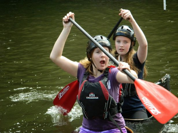 kingsland basin slalom may 16 2015 092 Caitlin and Ellan
