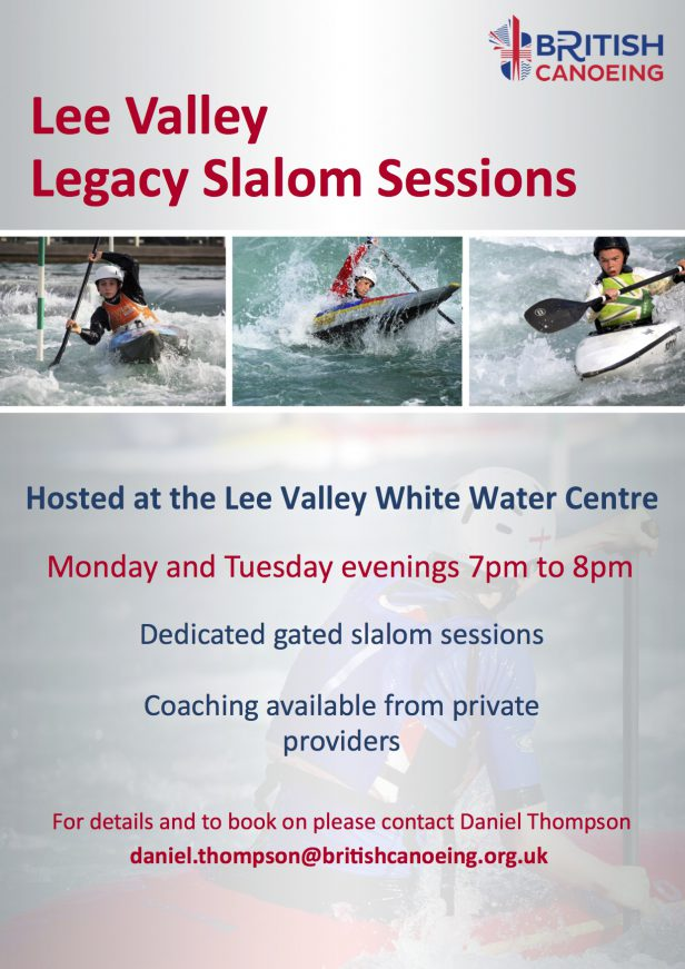 Lee Valley Legacy Slalom Sessions Poster (1)