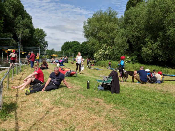 What batter way to spend a sunny Sunday than watching Canoe Slalom at Cardington