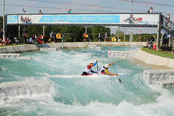 LONDON, ENGLAND - JULY 30: General View during the C2 canoe double Slalom at Lee Valley White Water Centre on July 30, 2011 in London, England. (Photo by Ian Walton/Getty Images)