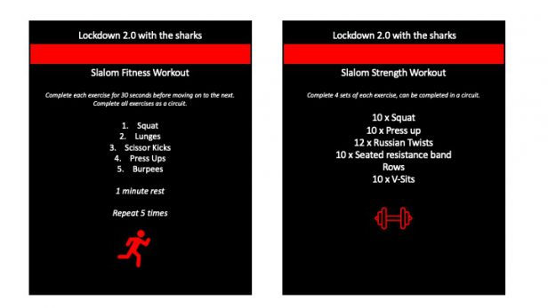The sharks exercise - Page two